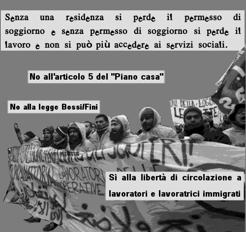 Presidio di lotta a roma e caserta siamo tutti e sulla for Requisiti permesso di soggiorno